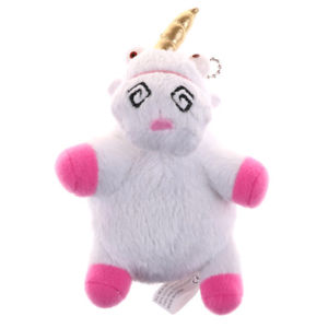 Unicorn Plush Toys Keyring Keychain Pendant Soft Stuffed Toys Kids Gift GS