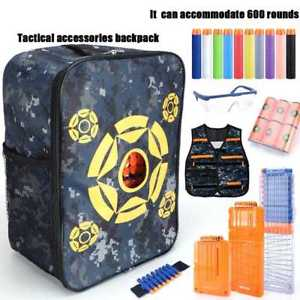 Kid Target Pouch Bullet Storage Pack Bag Tactical Backpack Case For Nerf Gun Toy