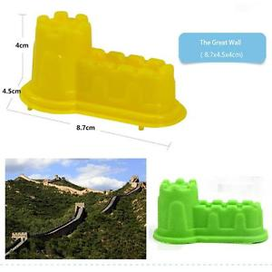 6Pcs Big Motion Sand Castle Building Model Mold Beach Fun Toys Kit for Kids Play