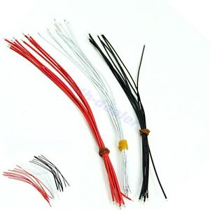30Pcs 22AWG copper Guitar Pickup Hookup Wire Lead Cable 21cm Black White Red New