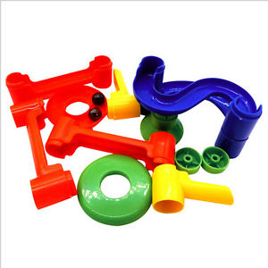 Alcoa Prime 12PCS DIY Construction Marble Race Run Maze Ball Track Building Blocks Kid Gift