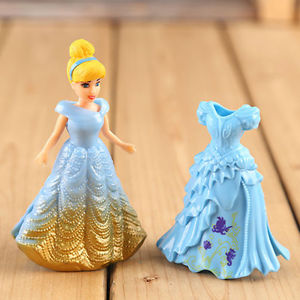 Alcoa Prime 8pcs Cute Princess Action Figures Changed Dress Doll Kids Boy Girl Toy Set Gift