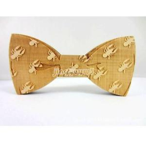 Men's Wooden Bowtie Bowknot Accessories Business Neckties Wood Bow Tie Cravat