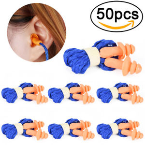 10X Soft Silicone Corded Ear Plugs Reusable Hearing Protection Earplugs 2017 &
