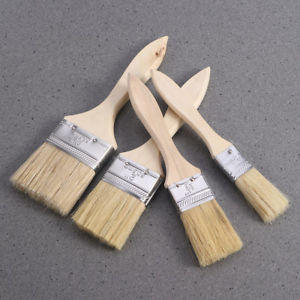 Alcoa Prime 5pcs Wood and bristle Oil Paint Brushes Kit for Wal Artist Painting Supplies