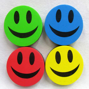 1XOffice School Smiley Magnetic Whiteboard Dry Wipe Drawing Board Cleaner Eraser