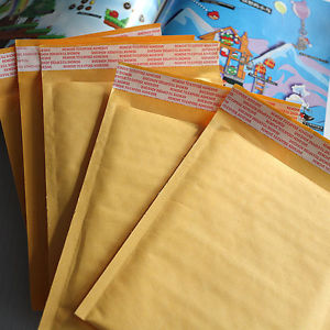 10 x Kraft Bubble Envelopes Padded Mailers Shipping Self-Seal Bags 150x180mm