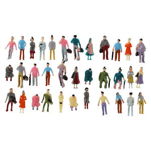 Alcoa Prime 100pcs Painted Model Train Passenger People Figures Scale 1:150 N3