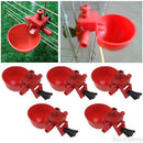 5x Chicken Fowl Drinker Bird Coop Feed Automatic Poultry Water Drinking Cups KM3