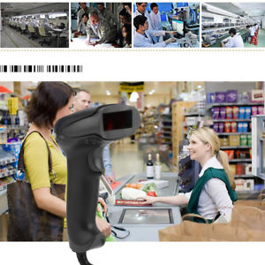 USB Laser Barcode Scanner Bar Code Reader Long Scan Handheld for POS PC Gracious
