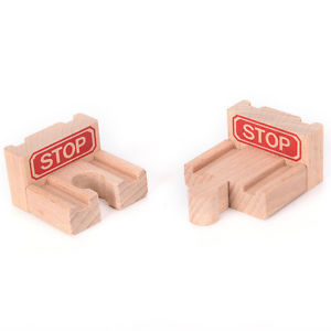 1 Set Wooden Train Stop Track Railway Accessories Compatible All Major Brands GS