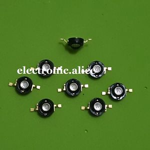 Alcoa Prime 2pcs 3W 365nm-370nm UV LED Ultraviolet LED Chip Light High Power LED Bead Black