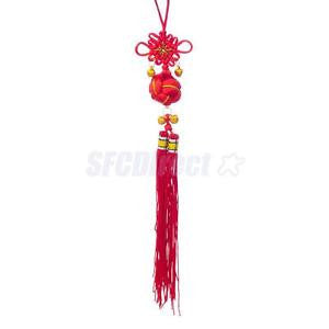Alcoa Prime Chinese Knot w/Lucky Ball Good Luck Wealth Health Pray Fengshui Hanger Red
