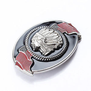 Western Cowboy Zinc Alloy Indian Belt Buckle Mens Hip-hop Belt Accessories