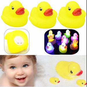 Alcoa Prime 3x LED Yellow Duck Baby Bath Bathtime Toy Color Changing Lamp Light Kids Funny