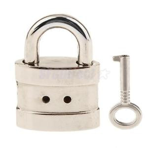 Alcoa Prime Classical Alloy Square Padlock with Key Suitcase Diary Kids Gift - Silver S