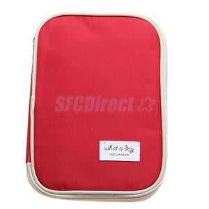 Alcoa Prime Red Passport Travel Document Ticket Holder Organiser Purse Card Coins Wallet