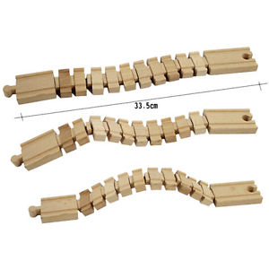 Wooden Deformation Track Railway Accessories Compatible All Major Brands TEcp