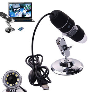 2MP 1000X 8 LED USB Digital Microscope Endoscope Magnifier Camera Zoom+ Stand
