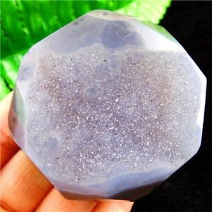 Alcoa Prime Beautiful Gray Geode Agate Freeform Pendant Bead 56*55*14mm L7XY005