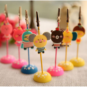 Kawaii Memo Holder Photo Picture Paper Note Clip Stand Place Card Best US