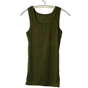 Alcoa Prime Men Cotton Sleeveless I-shaped Vest Solid Boy's Tank Tops Sport T-shirt