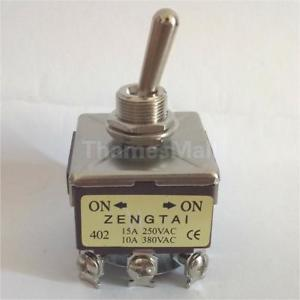 4PDT 2 Position ON/ON 12 Pin Mini Toggle Switch 15A/250V 10A/380V