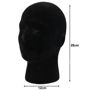 Styrofoam Foam Mannequin Manikin Head Model Glasses Cap Wig Display Stand Male
