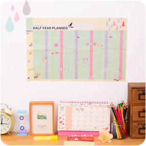 180 Day Half Year Planner Calendar Study Pace Marker Learning Working Plan Table