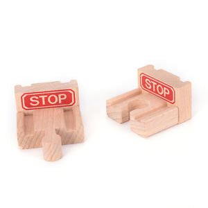1 Set Wooden Train Stop Track Railway Accessories Compatible All Major Brands LH