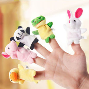 Alcoa Prime 10Pcs Animal Finger Puppets Plush Cloth Baby Toys Bed Story DIY Finger Puppet