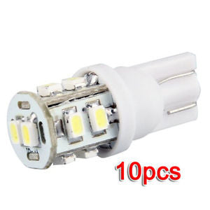10 x T10 168 194 W5W Car White High Power SMD 10 LED Wedge Light Bulb AD