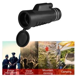 40x60 Monocular Telescope Zoom Outdoor HD Vision Hunting Military Monoculars EW