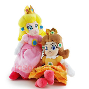 Alcoa Prime 2Pcs Super Mario Brothers 8'' Princess Peach & Daisy Stuffed Plush Toy Doll New