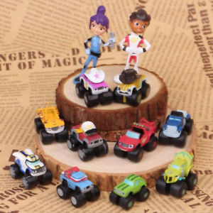 12Pcs Blaze and the Monster Machines Vehicles Plastic Toys Racer Cars Trucks Kid
