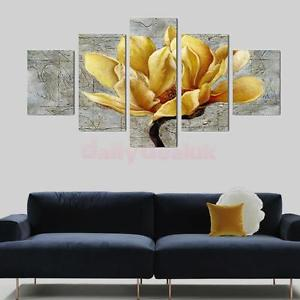 Alcoa Prime Set of 5 Panels Canvas Decorative Orchid Print Wall Art Paintings 40/60/80cm