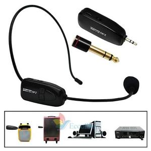 Alcoa Prime 2.4G Wireless Microphone Speech Headset Megaphone Radio Mic For Loudspeaker A