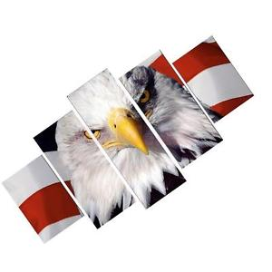Alcoa Prime 5xCanvas Decorative Wall Painting US Flag&Eagle Print Pictures 30x40/60/80cm