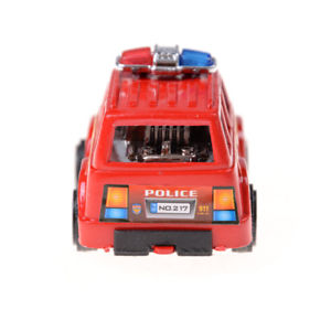 2X Plastic Pull Back Diecasts Toy Vehicles Cars Children Toys Gift Police Car QW