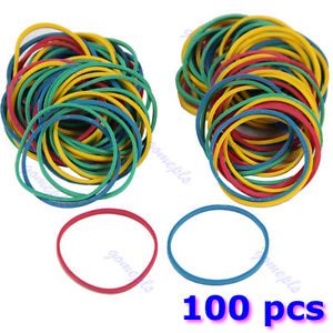 100 PCS For Tattoo Gun Machine Supplies Colorful Elastic Rubber Bands