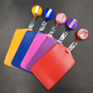Bank Credit Card Holders PU Card ID Holders Identity Badge Retractable Reel TB