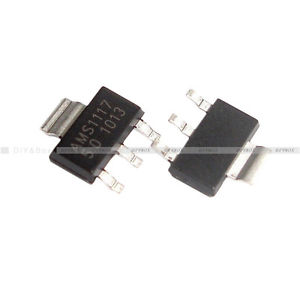 10Pcs AMS1117-3.3 LM1117 3.3V 1A SOT-223 Voltage Regulator LM1117