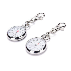 stainless steel Quartz Pocket Watch Cute Key Ring Chain New Gift LA