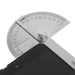 180 Degree Stainless Steel Protractor Angle Finder Rotary Measuring Ruler 100mm
