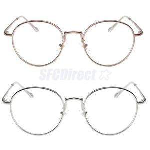 Alcoa Prime 2 Pieces Retro Clear Circle Round Glasses,Cute & Lightweight,Gents or Ladies