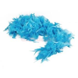 Alcoa Prime Feather Boa Fluffy Craft Decoration 6.6 Feet Long - Blue