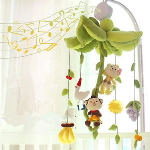 Rotary Baby Mobile Crib Bed Toy Clockwork Movement Music Box Kids Bedding Toy