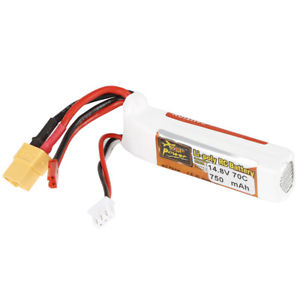 750mAh 14.8V 4S 70C XT60&JST Plug Lipo Battery For RC Quad Airplane Car Truck SU