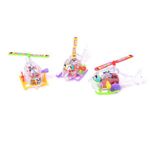 Alcoa Prime 2Pcs Mini Clockwork Transparent Aircraft Somersault Running Wind Up Toy C+