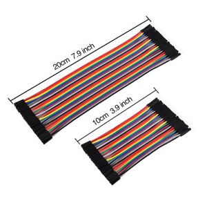 240 Pcs Breadboard Jumper Wires Ribbon Cables Kit Multicolored for Arduino J1#Y